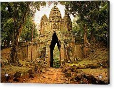 West Gate To Angkor Thom Acrylic Print by Artur Bogacki