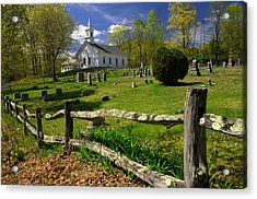 Acrylic Print featuring the photograph West Guilford Church by Paul Miller