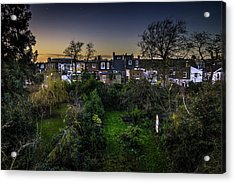 Acrylic Print featuring the photograph West Hampstead Sunset by Rob Tullis