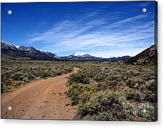 Acrylic Print featuring the photograph West Of The Sierra Nevada  by Thomas Bomstad