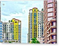 West Palm Skyline Acrylic Print