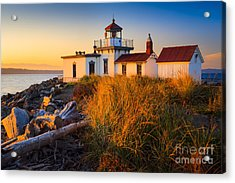 West Point Lighthouse Acrylic Print by Inge Johnsson