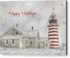 West Quoddy Christmas Acrylic Print by Lori Deiter