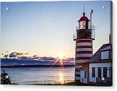West Quoddy Head Lighthouse Sunrise  Acrylic Print