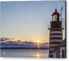 West Quoddy Lighthouse Sunrise Acrylic Print