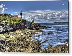 West Quoddy Lubec Maine Lighthouse Acrylic Print by Shawn Everhart