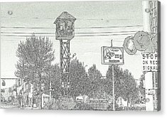 West Side Grand Rapids Railroad Depot Switch Tower Area Acrylic Print
