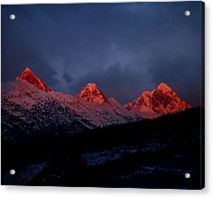 West Side Teton Sunset Acrylic Print