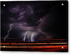West Texas Lightning Storm Acrylic Print