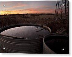 West Texas Plains Sunset Acrylic Print