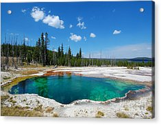 West Thumb Abyss Pool Acrylic Print