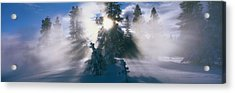 West Thumb Geyser Basin Yellowstone Acrylic Print by Panoramic Images