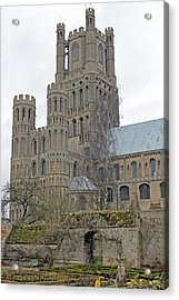 West Tower Of Ely Cathedral  Acrylic Print