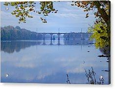 West Trenton Railroad Bridge Acrylic Print by Bill Cannon