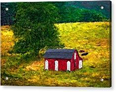 West Virginia Impasto Acrylic Print