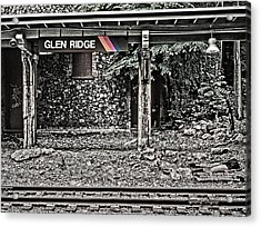 Westbound Track At Glen Ridge Station Acrylic Print