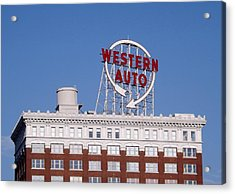 Western Auto Building Of Kansas City Missouri Acrylic Print