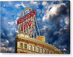 Western Auto Sign Downtown Kansas City Acrylic Print