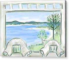 Western Beach Prouts Neck Maine Acrylic Print by Jean Pacheco Ravinski
