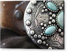 Acrylic Print featuring the photograph Western Belt Detail by Lynn England