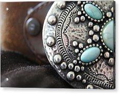 Western Belt Detail Acrylic Print