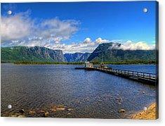 Western Brook Fjord. Acrylic Print