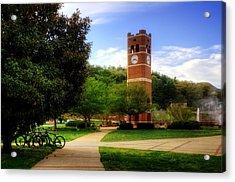 Western Carolina University Alumni Tower Acrylic Print by Greg and Chrystal Mimbs
