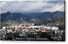 Western Carolina University Winter  Acrylic Print