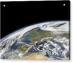 Western Europe, Satellite Image Acrylic Print by Science Photo Library