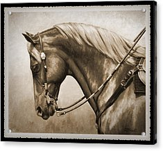 Western Horse Old Photo Fx Acrylic Print