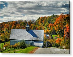 Western Maine Barn Acrylic Print by Alana Ranney