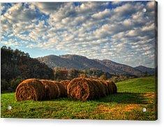 Western North Carolina Hay Field Acrylic Print