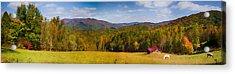 Western North Carolina Horses And Mountains Panorama Acrylic Print