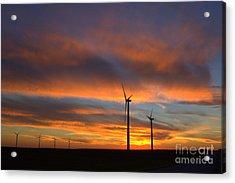 Acrylic Print featuring the photograph Western Oklahoma Skies 1 by Jim McCain