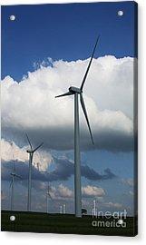 Acrylic Print featuring the photograph Western Oklahoma Wind Farm by Jim McCain