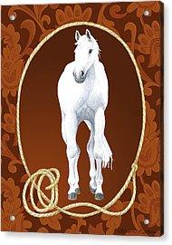Western Roundup Standing Horse Acrylic Print