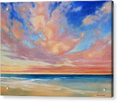 Acrylic Print featuring the painting Western Skys by Andrew Danielsen