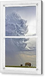 Western Storm Farmhouse Window Art View Acrylic Print by James BO  Insogna