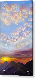 Acrylic Print featuring the painting Western Sunset by Margaret Bobb