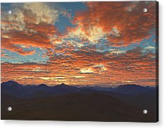 Acrylic Print featuring the digital art Western Sunset by Mark Greenberg