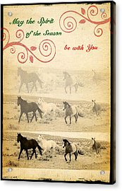 Western Themed Christmas Card Wyoming Spirit Acrylic Print