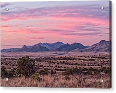Western Twilight Acrylic Print by Beverly Parks