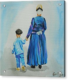Westfriese Woman And Boy Acrylic Print