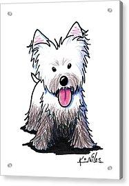Westie Muddy Westie Acrylic Print