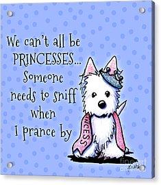 Westie Princess Acrylic Print by Kim Niles