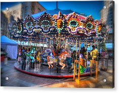 Westlake Carousel Acrylic Print by Spencer McDonald