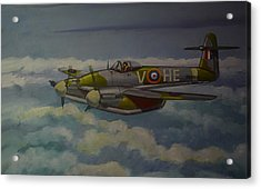 Acrylic Print featuring the painting Westland Whirlwind by Murray McLeod