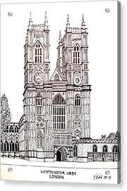 Westminster Abby - London Acrylic Print