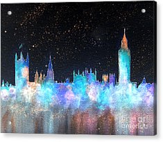 Westminster And Big Ben Cosmos Acrylic Print by Bill Holkham