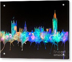 Westminster And Big Ben - Nighttime 1 Acrylic Print by Bill Holkham